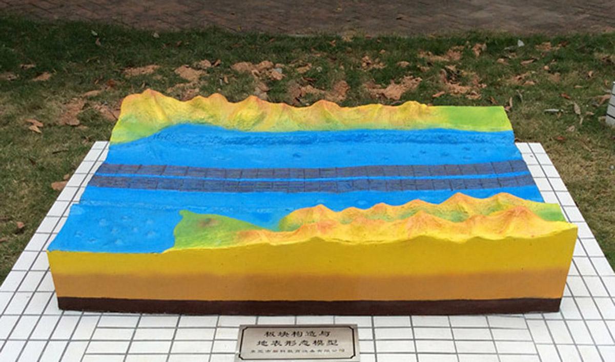 丰宁满族自治县AR戒毒板块构造及地表形态模型